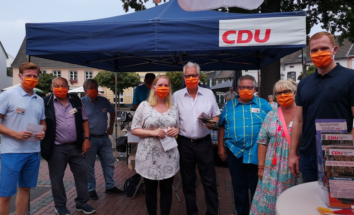 Canvassingstand der CDU Hilden